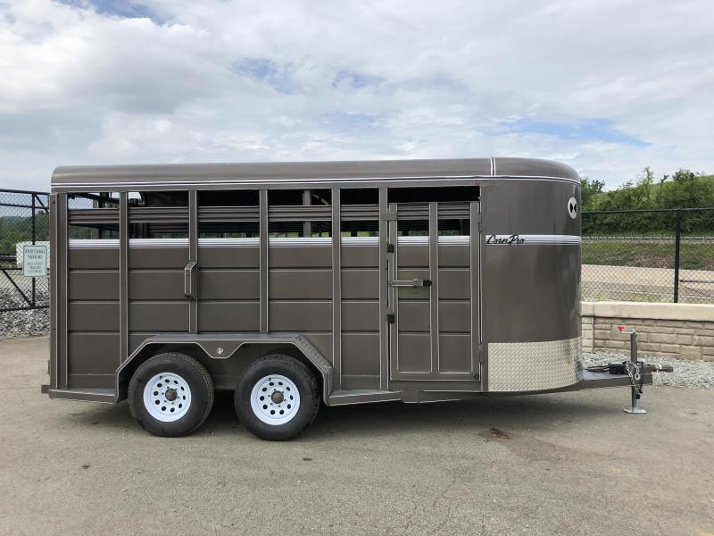 2018 CornPro 16' Livestock Trailer 7000# GVW * BEIGE * FREE ALUMINUM WHEELS