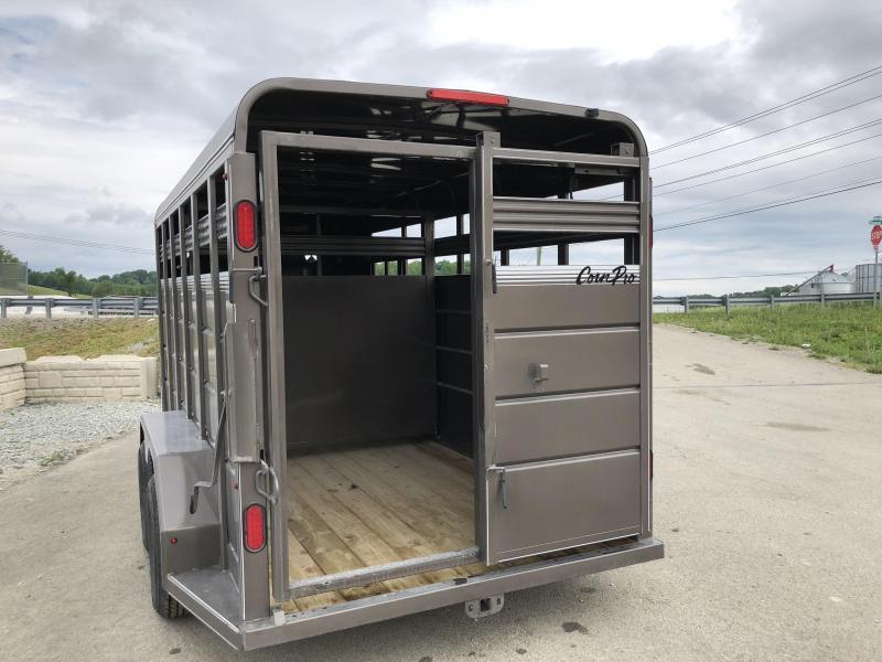 2018 CornPro 16' Livestock Trailer 7000# GVW * BEIGE