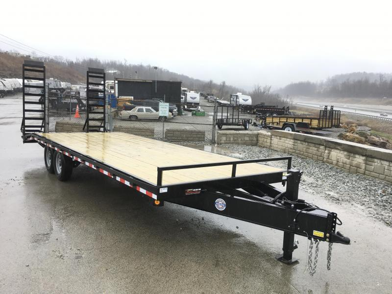 2019 QSA 102x20+4 HD LP Beavertail Deckover Trailer 12000#