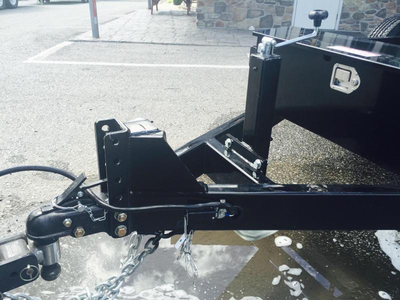 2019 Sure-Trac 7x16' LowPro HD Dump Trailer 14000# GVW - TELESCOPIC HOIST