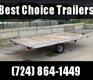 "USED 2002 Triton 80"" x 154"" 3-Place ATV Trailer Quad Hauler"