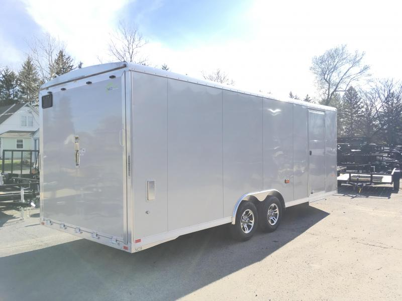 "2018 NEO 8.5x22' NCBR Aluminum Round Top Enclosed Car Hauler Trailer 7000# GVW NCB2285R6 * ESCAPE DOOR * +6"" HEIGHT * CEILING LINER * 5200# TORSION * ALUMINUM WHEELS"