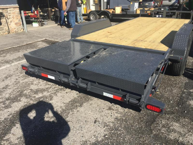 2018 Lamar 7x20' Equipment Trailer 14000# GVW - FULL WIDTH RAMPS * CHARCOAL