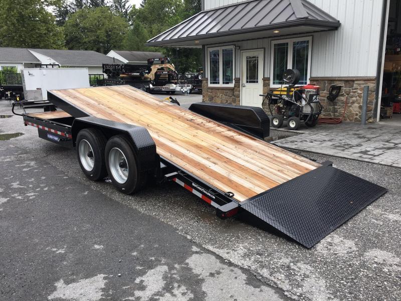 2018 Sure Trac Gravity Tilt Equipment Trailer 7'X18+4' 16000# OAK DECKING