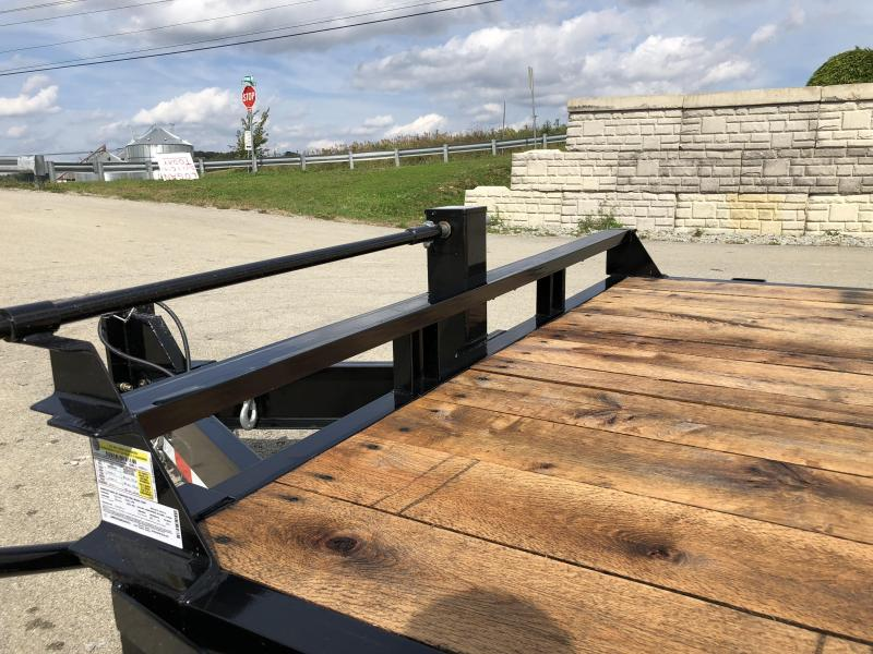 2018 Sure Trac Gravity Tilt Equipment Trailer 7'X18+4' 16000# OAK DECKING