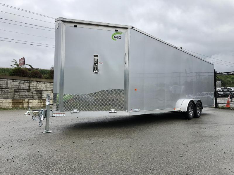 2020 Neo 7x28' Aluminum Enclosed All-Sport Trailer * 7' HEIGHT - UTV PKG * CHARCOAL * FRONT RAMP * LOADED * UTV * ATV * Motorcycle * Snowmobile