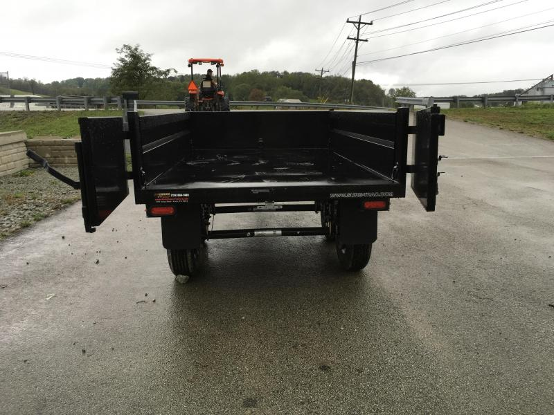 2019 Sure-Trac 6x10' SD Deckover Dump Trailer 9900# GVW * FOLD DOWN SIDES * HIGH SIDES * BARN DOORS