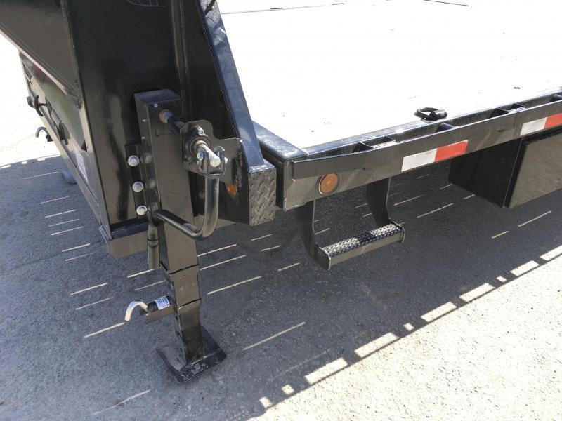 """2019 Iron Bull 102""""x22' Gooseneck Deckover Power Tilt 14000# GVW"""