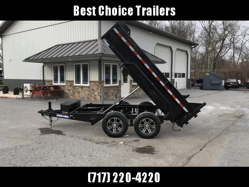 2020 Sure-Trac 6x10' LP Hydraulic Dump Trailer 9900# GVW DROP LEG JACK UNDERMOUNT RAMPS COMBO GATE