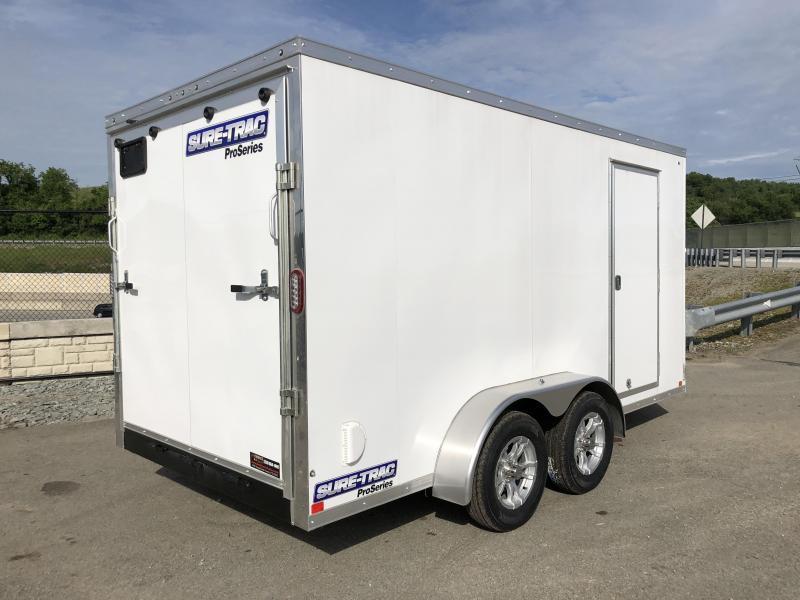 2018 Sure-Trac 7x14' Enclosed Cargo Trailer 7000# GVW * WHITE