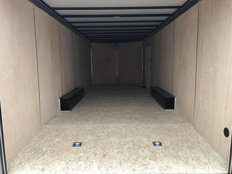 2019 Sure-Trac 8.5x24' Enclosed Car Trailer 9900# GVW * SILVER * 7K DROP LEG JACK * 7' HEIGHT UPGRADE