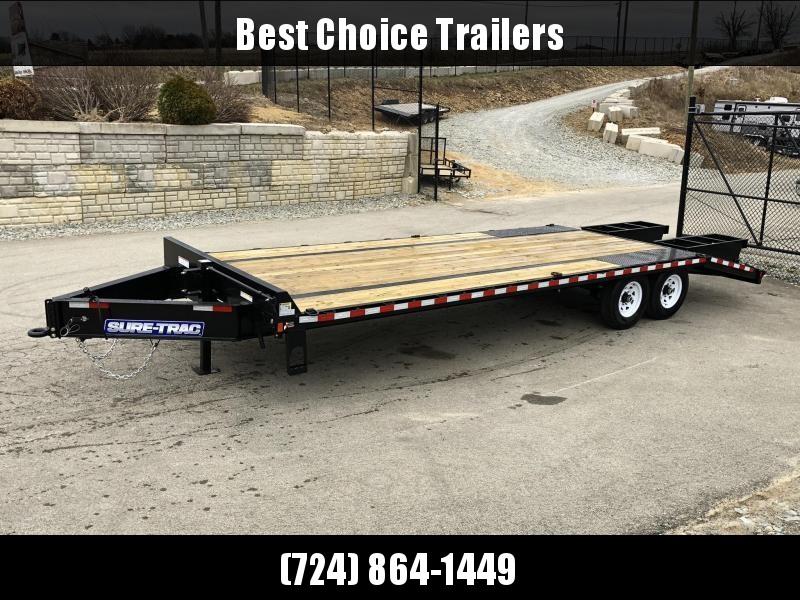 2018 Sure-Trac 102x20+5 15K Beavertail Deckover Trailer * CLEARANCE - FREE ALUMINUM WHEEL UPGRADE