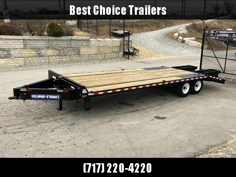 2018 Sure-Trac 102x20+5 15K Beavertail Deckover Trailer * CLEARANCE - FREE ALUMINUM WHEEL UPGRADE