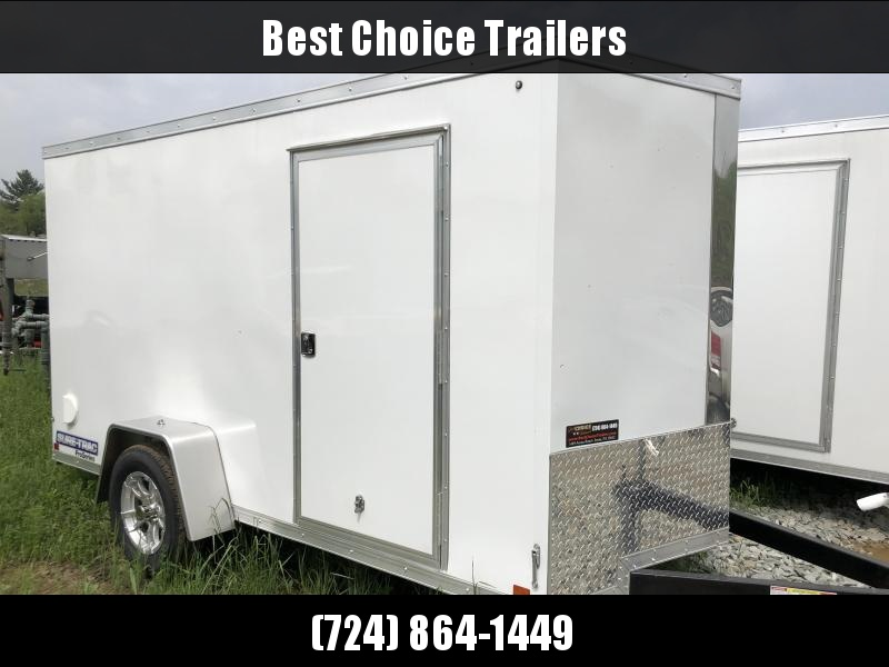 2018 Sure-Trac 6x12' STW Enclosed Cargo Trailer 2990# GVW * WHITE * RAMP DOOR