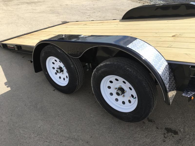 2018 H&H 7x20' MX Manual Tilt Car Hauler 9990# GVW * CLEARANCE - FREE ALUMINUM WHEELS