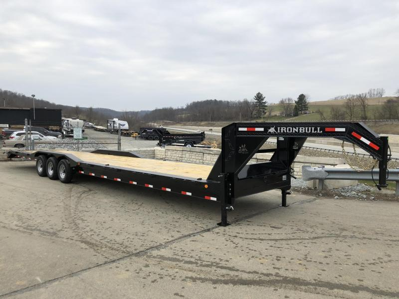 "2018 Ironbull 102x40' Gooseneck Car Hauler Equipment Trailer 21000# * 102"" DECK * DRIVE OVER FENDERS * 7' RAMPS"