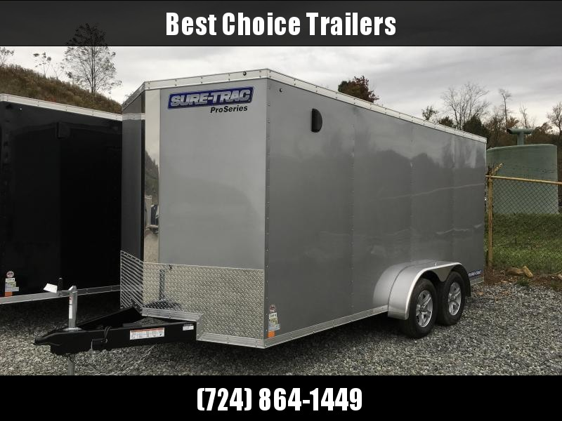 2019 Sure-Trac 7x16' Enclosed Cargo Trailer 7000# GVW - STW8416TA