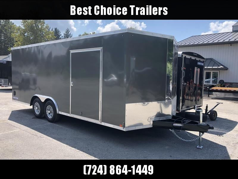 2019 Sure-Trac 8.5x20' Enclosed Car Trailer 9900# GVW * CHARCOAL * 7K DROP LEG JACK