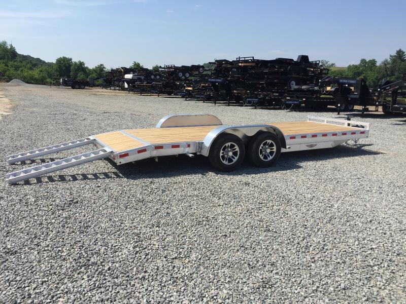"""H&H 7x20' 9990# Low Profile Aluminum Car Hauler HEAVY DUTY TORSION AXLES DROP AXLES 8"""" FRAME * CLEARANCE"""