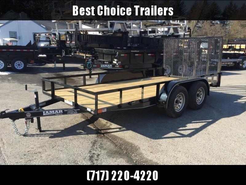 "2018 Lamar 77""x16' Utility Trailer 7000# GVW - CHARCOAL"