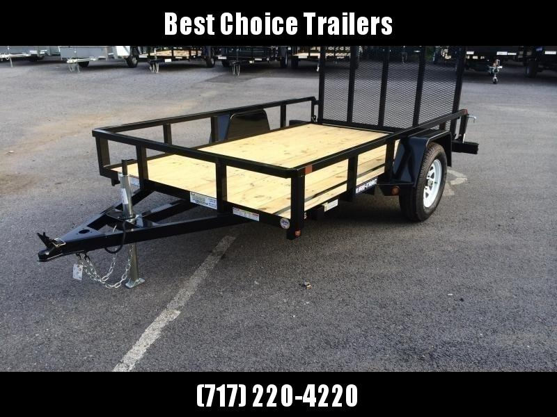 2019 Sure-Trac 5x10' Tube Top Utility Landscape Trailer 2990# GVW * CLEARANCE - FREE ALUMINUM WHEELS