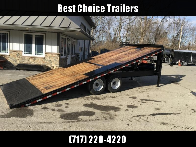 2018 Sure-Trac 102x24' Gooseneck Power Tilt Deckover 17600# GVW * WINCH PLATE * OAK DECK