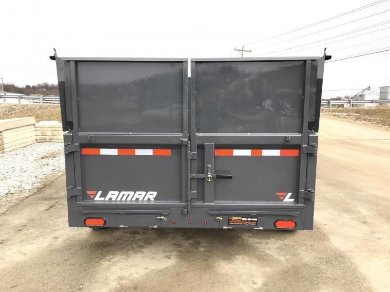 2018 Lamar DM10 77x12' 9990# Low Profile Dump Trailer 4' HIGH SIDES * 12K JACK * TARP KIT  * ADJUSTABLE COUPLER * CHARCOAL * SPARE TIRE & MOUNT