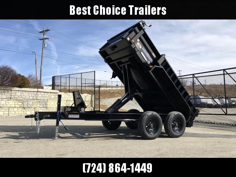 """2019 Load Trail 5X10' Dump Trailer 7000# GVW * DT6010032 * 3-WAY GATE * I-BEAM FRAME * TARP KIT * SCISSOR HOIST * 4"""" TUBE BED FRAME * 110V CHARGER * DEXTER'S * 2-3-2 * POWDER PRIMER"""