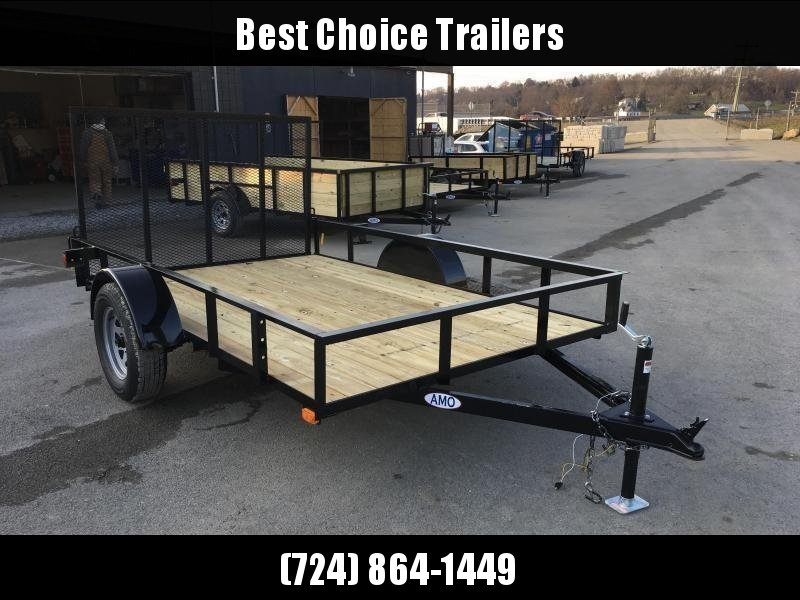 2018 AMO 5x8' Angle Iron Utility Landscape Trailer w/ Gate 2990# GVW * CLEARANCE - FREE SPARE TIRE