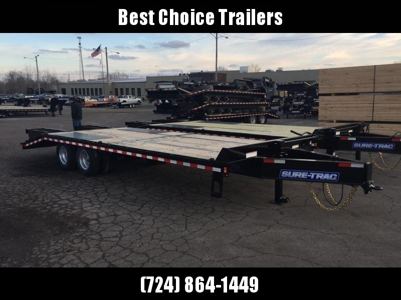 2019 Sure-Trac 102x20+5 22K Pintle Beavertail Deckover Trailer Pierced Frame OAK DECK & RAMPS PAVER TRAILER  * SIDE TOOLBOX * OAK RAMPS/TAIL/DECK * 2ND JACK