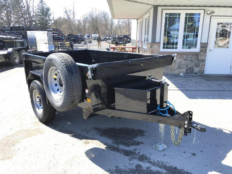2018 Lamar 5x8' DS60 Dump Trailer 7000# GVW - SINGLE AXLE * TARP * RAMPS * SPARE MOUNT