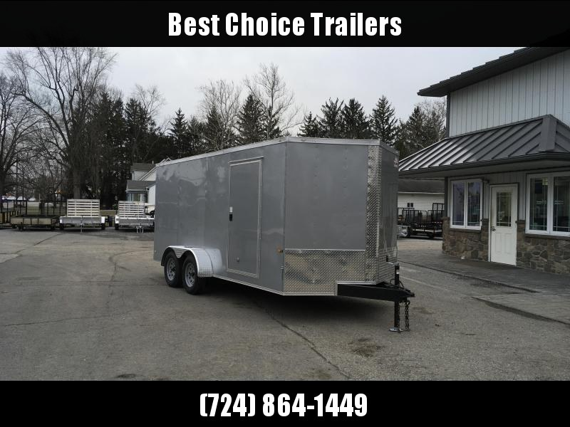 2018 Rock Solid 7x16' Enclosed Cargo Trailer 7000# GVW * WHITE