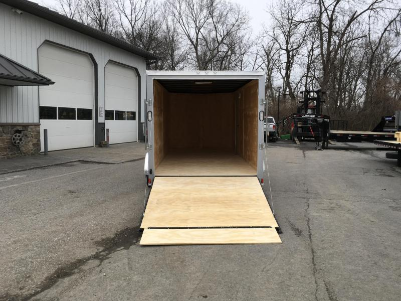 2018 Rock Solid 7x16' Enclosed Cargo Trailer 7000# GVW * WHITE