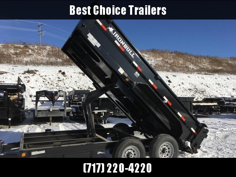 2019 Iron Bull 7x14' Dump Trailer 14000# GVW RAMPS * TARP * SCISSOR * SPARE MOUNT * CLEARANCE - FREE ALUMINUM WHEELS