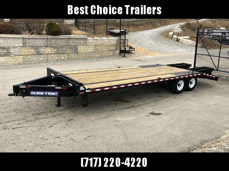 2019 Sure-Trac 102x20+5 15K Beavertail Deckover Trailer * PIERCED FRAME * 12