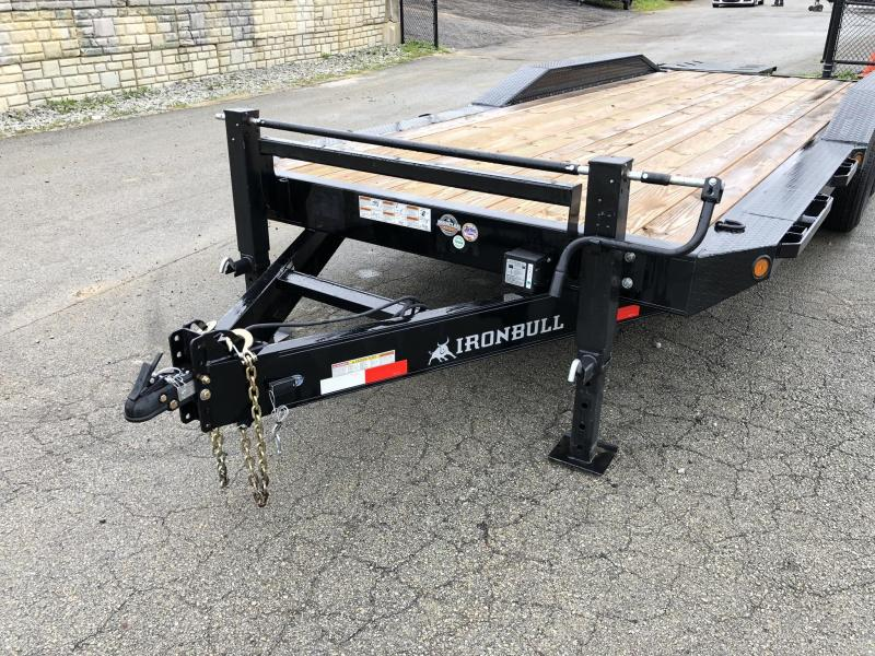 "2019 Ironbull 102x24' Equipment Trailer 21000# GVW * TRIPLE AXLE * FULL WIDTH RAMPS * 102"" DECK * DRIVE OVER FENDERS * 8"" FRAME UPGRADE"