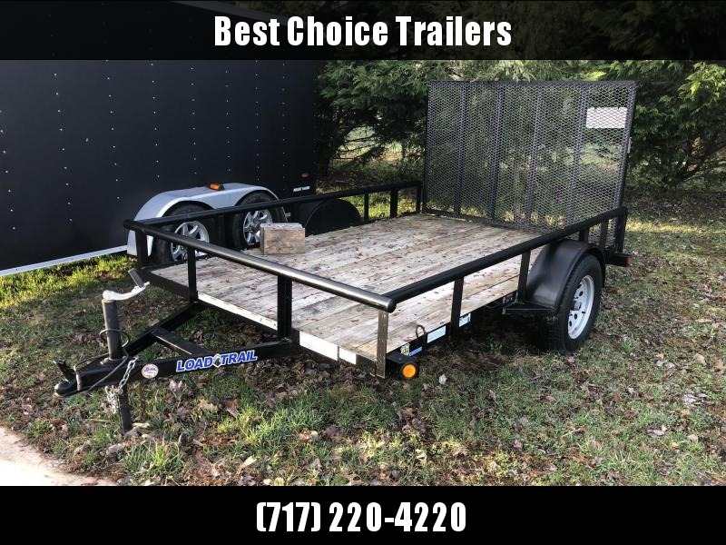 USED 2014 Load Trail 76x10' Pipe Top Rail Utility Landscape Trailer 2990#
