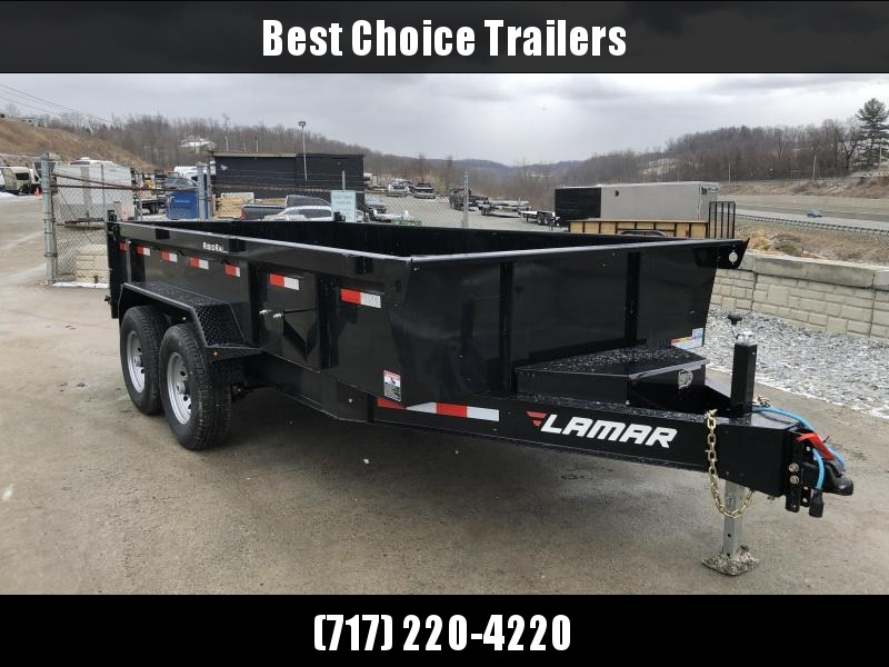 2018 Lamar 7x14' Dump Trailer 14000# GVW - STANDARD * RAMPS * SPARE MOUNT * CLEARANCE