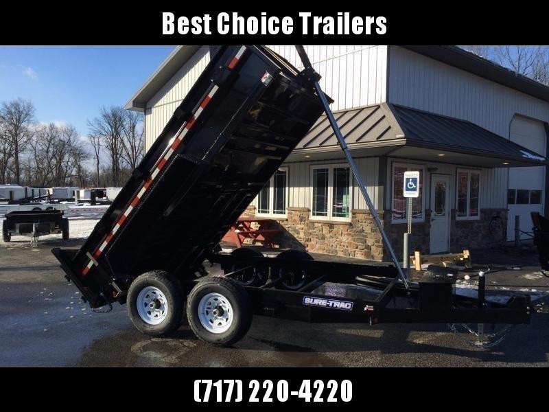 2019 Sure-Trac 7x14' LowPro HD Dump Trailer 14000# GVW - TELESCOPIC HOIST