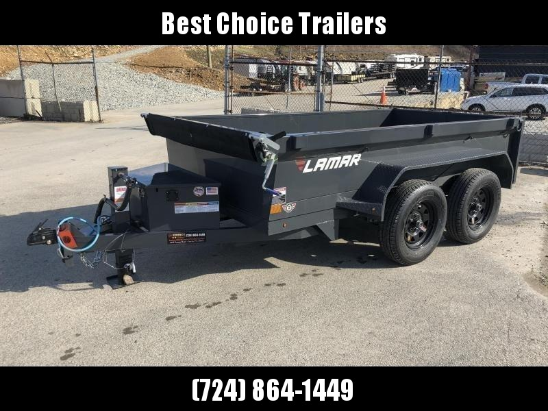 2018 Lamar 5x10' DS60 Dump Trailer 7000# GVW - DELUXE * 12K JACK * RAMPS * TARP * SPARE & MOUNT * CLEARANCE - FREE SPARE