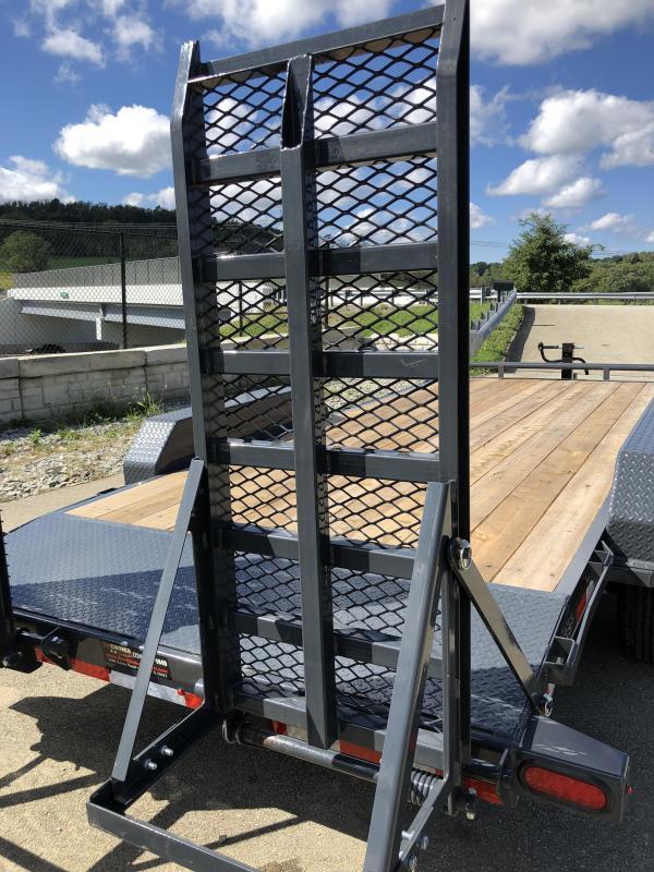 2018 Lamar 7x18' H6 Equipment Trailer 14000# GVW - DELUXE RAMPS