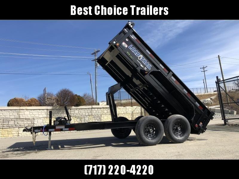 """2019 Load Trail 7x12' Dump Trailer 9990# GVW * DT7212052 * 2' SIDES * 3-WAY GATE * I-BEAM FRAME * TARP KIT * SCISSOR HOIST * 16"""" RUBBER * 6"""" TUBE BED FRAME * 110V CHARGER * DEXTER'S * 2-3-2 * POWDER PRIMER"""