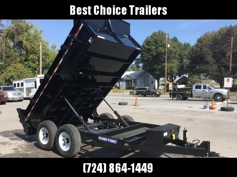 2018 Sure-Trac 7x12' HD LowPro Dump Trailer 12000# GVW * Dual Ram * CLEARANCE - FREE ALUMINUM WHEELS