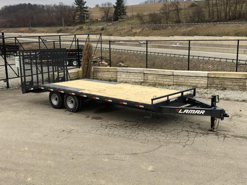 2019 Lamar F8 102x22' Beavertail Deckover Trailer 14000# GVW * 5' HD GATE