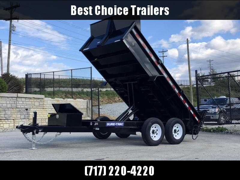2019 Sure-Trac 6x12' Dump Trailer 9900# GVW * SCISSOR HOIST * DROP LEG JACK * UNDERMOUNT RAMPS * COMBO GATE