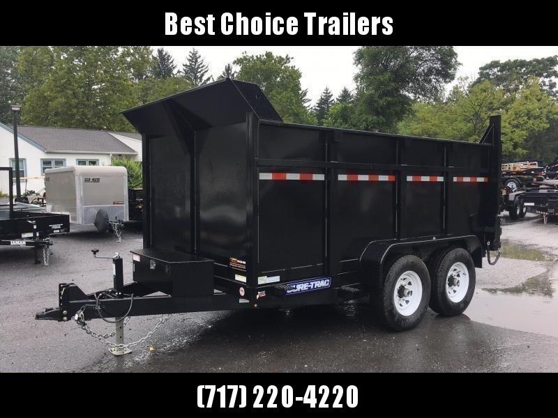 2019 Sure-Trac 7x14' LowPro Dump Trailer 14000# GVW * 4' HIGH SIDES W/ BULKHEAD * SCISSOR HOIST UPGRADE * 14-PLY TIRES & SPARE