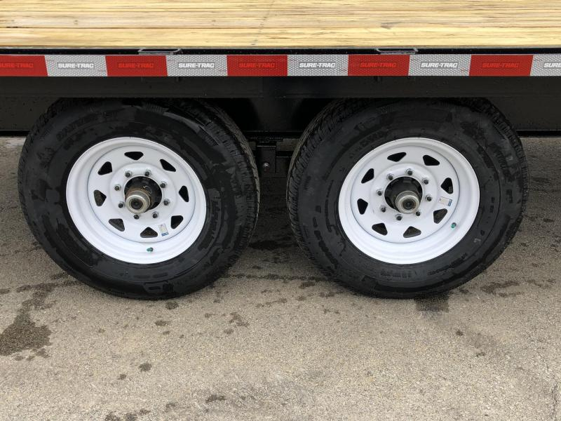 "2019 Sure Trac 20+4' Beavertail Deckover Trailer 15000# * ST102204SDDO-B-150 * 4"" CHANNEL STAND UP RAMPS"