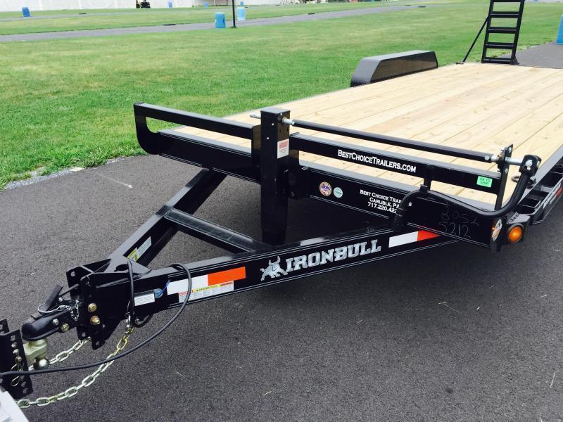 """2019 Ironbull 102x24' Equipment Trailer 14000# GVW * FULL WIDTH RAMPS * 102"""" DECK * DRIVE OVER FENDERS * 8"""" FRAME UPGRADE"""