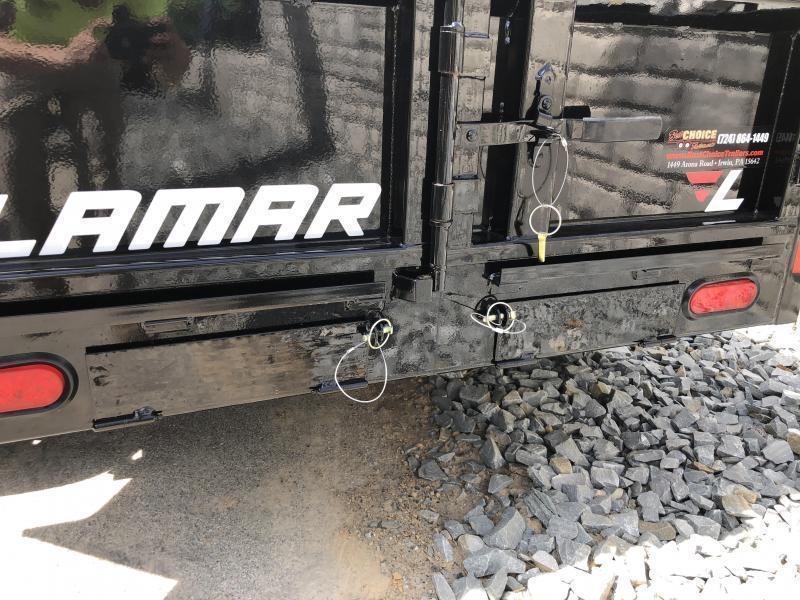 2019 Lamar 5x10' Tandem Axle DS60 Dump Trailer 7000# GVW - STANDARD * SPARE MOUNT * RAMPS * CHARCOAL W/ BLACK WHEELS