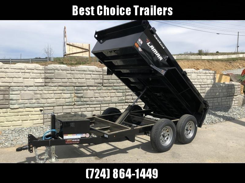 2019 Lamar 5x10' Tandem Axle DS60 Dump Trailer 7000# GVW * DELUXE * TARP KIT * SPARE MOUNT * RAMPS * CHARCOAL W/ BLACK WHEELS